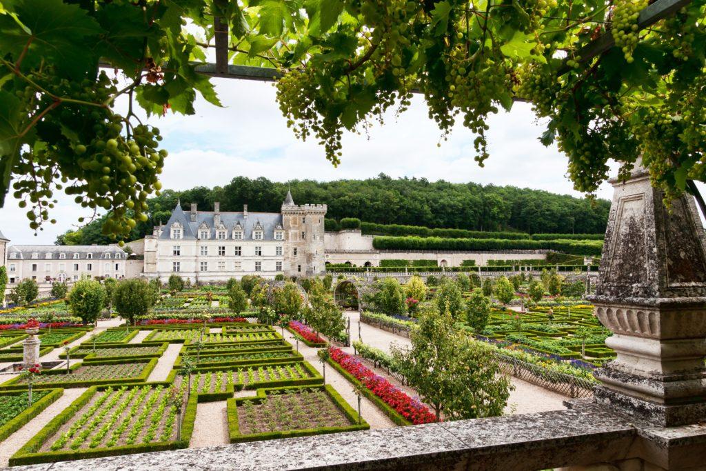 Château de Villandry, vue des jardins